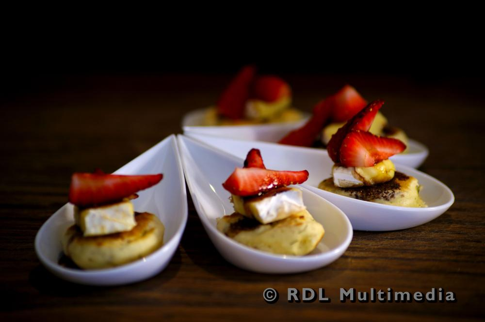 Camembert cheese and balsamic vinegar Canape