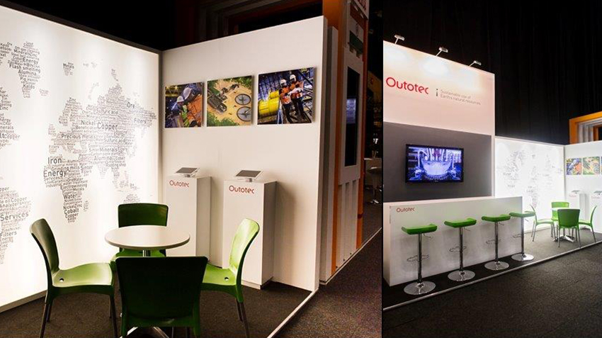 Custom exhibition stand Investing in African Mining Indaba 2015